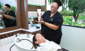 The Bauman Scalp Makeover creates a healthier scalp to stimulate healthy hair growth, while you enjoy a relaxing, spa-like experience.